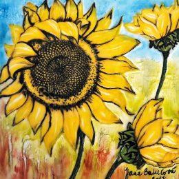 Ako pomocou servitky a horúceho vosku namaľovať slnečnice